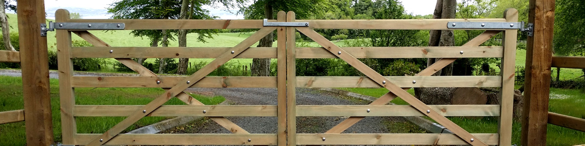 Diamond Brace Gate  from the Timbergate Country Range of Timber Gates
